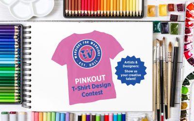 Warriors for Warriors 2019 PINKOUT T-Shirt Design Contest